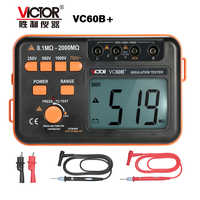 Victor VC60B+ Digital Insulation Resistance Tester 1000V Original Megger Insulation Tester DC/AC 0.1~2000m ohm Wholesale