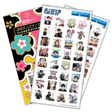 YURI on ICE Sticker Anime Stickers Waterproof Plastic Transparent Decal Toy Stiker For Phone Laptop Book anime black butler plastic stickers transparent decal sticker for phone laptop book and other flat sticker children toy sticker