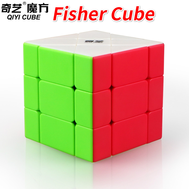 New Qiyi Fisher Cube Stickerless or Black Puzzle 3x3 Strange-shape Magic Cube Cubo Magico Learning Educational Toys For ChildrenNew Qiyi Fisher Cube Stickerless or Black Puzzle 3x3 Strange-shape Magic Cube Cubo Magico Learning Educational Toys For Children