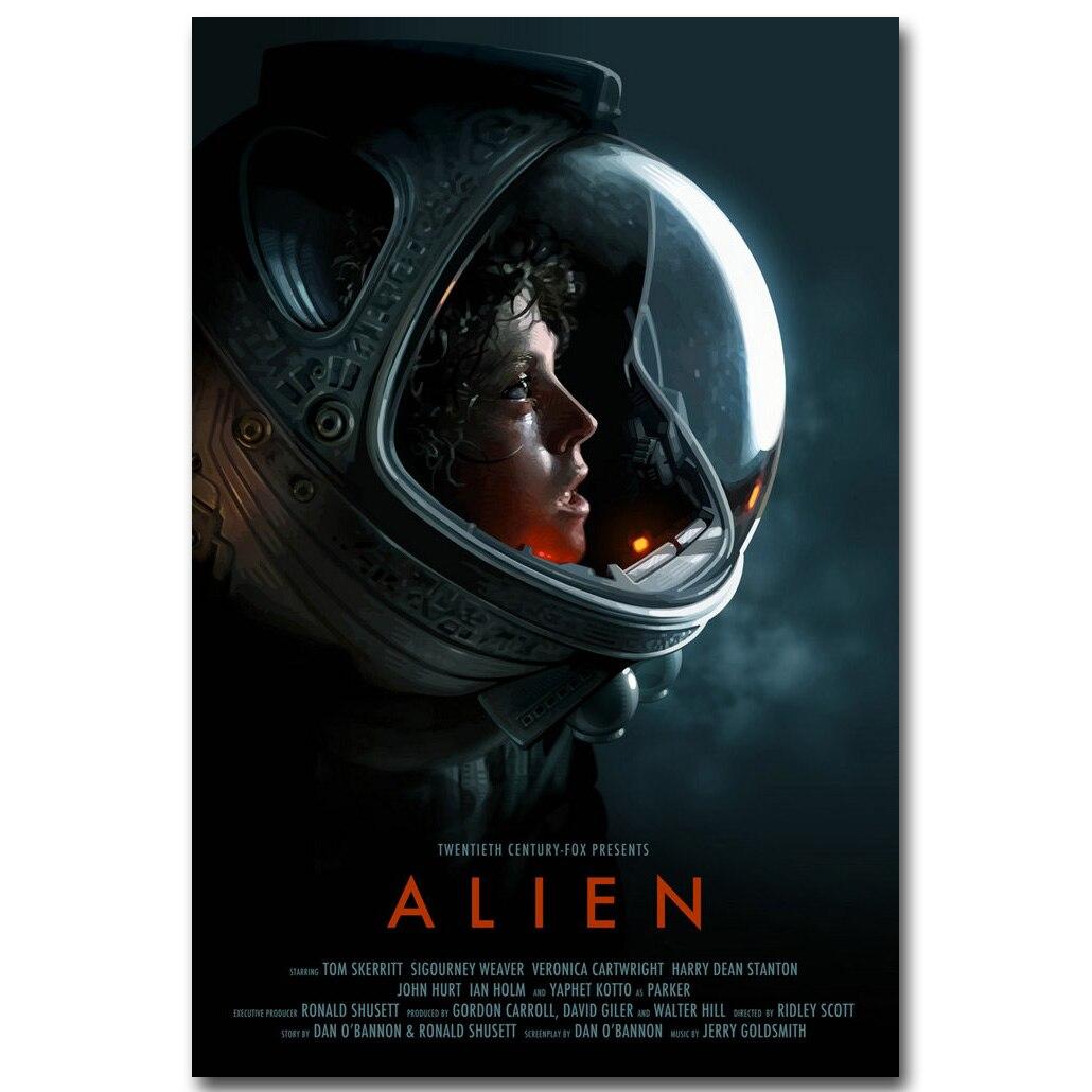 Meilleure affaire ) }}Alien Art Silk Poster Print 13x20