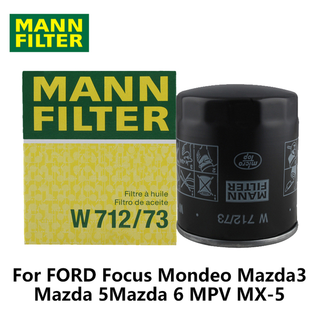 MANN FILTER Car Oil Filter For FORD Focus 1.8L 2.0L Mondeo 2.0L Mazda