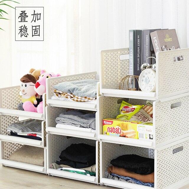 Wardrobe Storage Closet Layered Parion Drawer Box Clothes Basket Rack Bedroom Finishing A10955