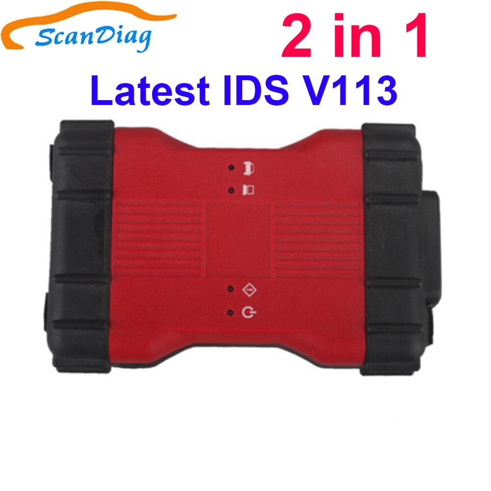 Mais novo V113 VCM2 IDS VCM II 2 em 1 V109 IDS Ferramenta de Diagnóstico para a Ford e Para A Mazda IDS V107