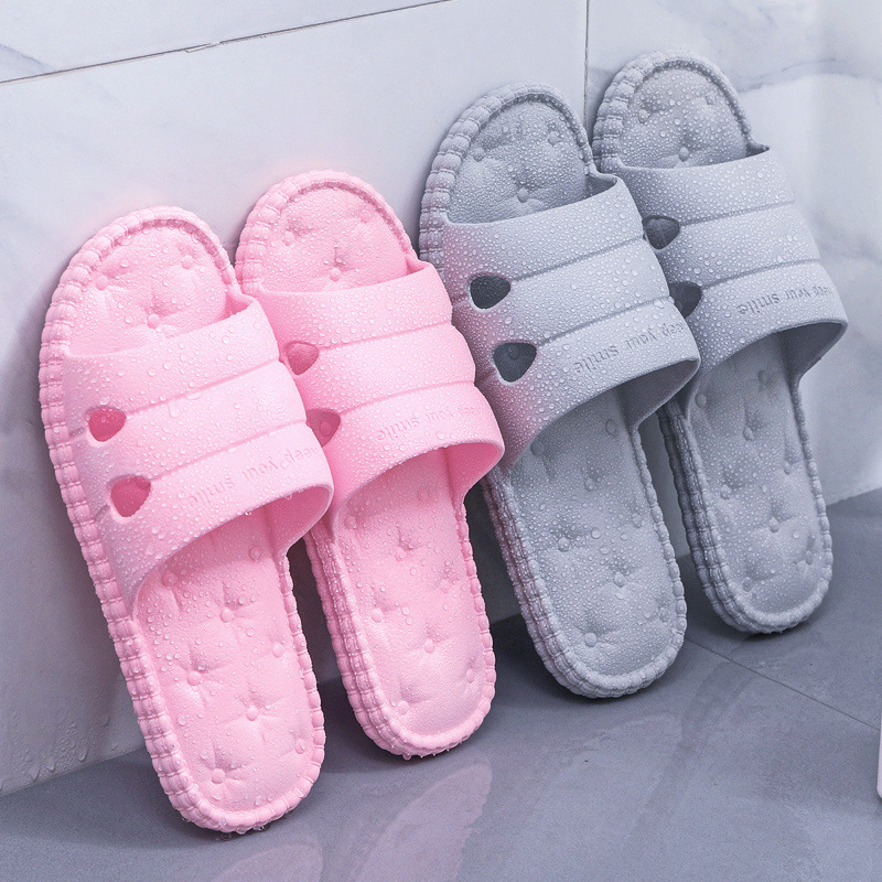 Japanese Anti-skid Indoor Slippers Women's Summer New Soft-soled Household Bathroom Lovers'Sandals