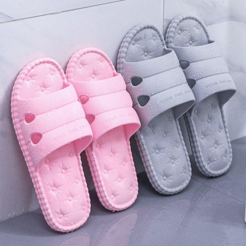 Japanese Anti-skid Indoor Slippers Women's Summer New Soft-soled Household Bathroom Lovers'Sandals