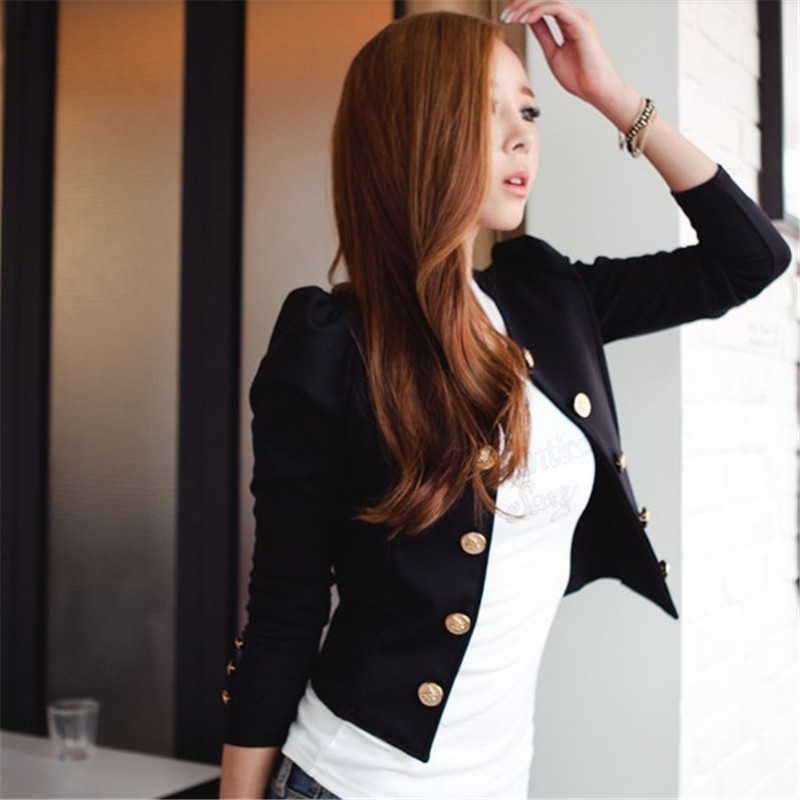 Nueva Moda de nueva Primavera Fashion Short Sexy Trajes Casual Chaqueta Escudo