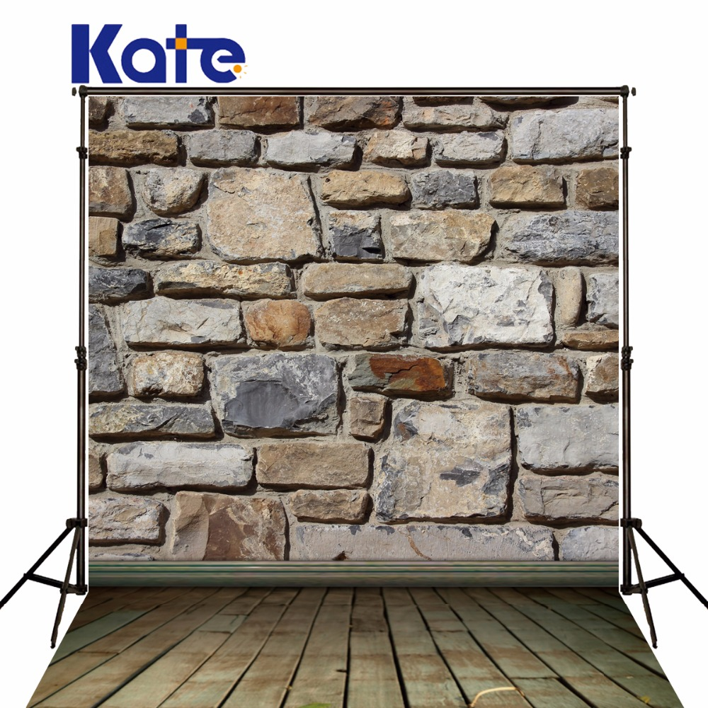 Фото Kate brick wall background photography stone is land wood floor backdrops fotografia backgrounds for photo