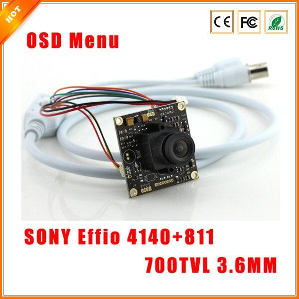 """bilder für 1/3 """"700TVL 3,6mm Sony effio-e 4140 + 811 CCD Cctv-kamera Bord mit Osd-menü Spanplatten für Überwachungskamera"""
