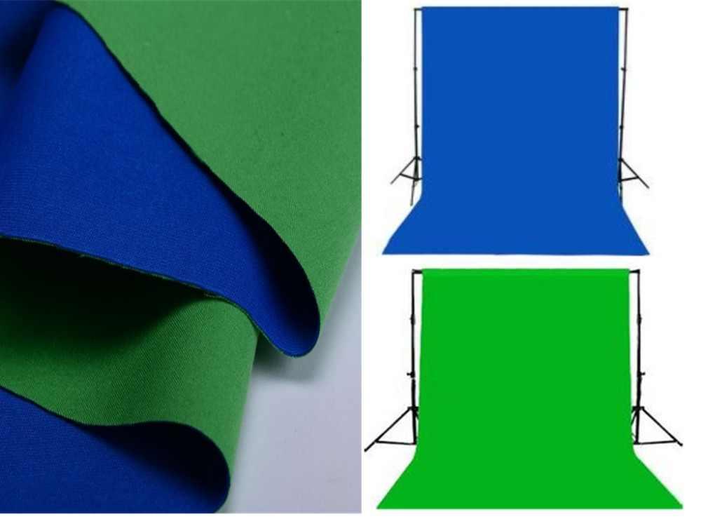 Двухсторонняя ткань зеленый, синий ширина 2,4 м фотостудия хлопок хромаки экран Муслин Фон Ткань фоны