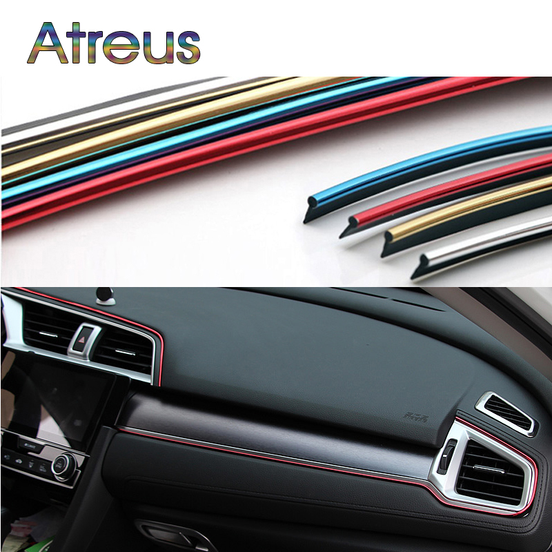 5M Interior Sticker Decoration Strip Car Styling For Ford Focus 2 Chevrolet Cruze Aveo Captiva Lacetti TRAX Sail Accessories 3d ss car front grille emblem badge stickers accessories styling for jaguar honda chevrolet camaro cruze malibu sail captiva kia