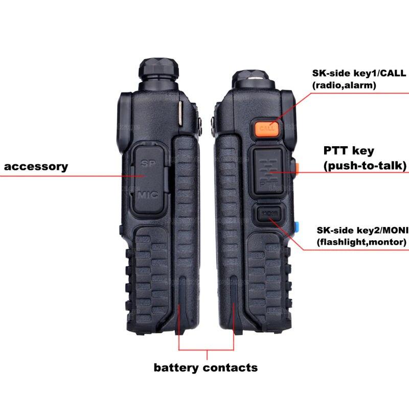 Baofeng uv-5r 8W ptt walkie talkie uv-8HX sister pmr radio walk talk bf-a58 uv5r uvb2 plus uv-b5 tyt cb radio+antena+car charger (6)