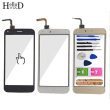 Touch Screen 100% Guarantee Front High Glass Digitizer Panel For UMI London Lens Sensor Tools + Free Adhesive Gift