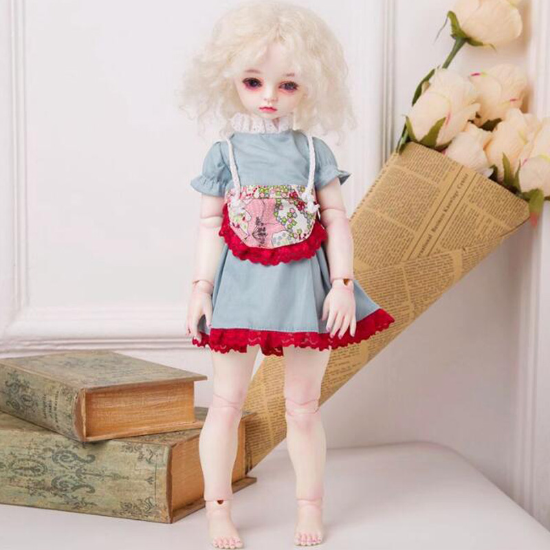 1PCS Doll Accessories SD BJD Doll Dress Clothes For BJD Doll 1/4 fashion bjd doll retro black linen pants for bjd 1 4 1 3 sd17 uncle ssdf popo68 doll clothes cmb67