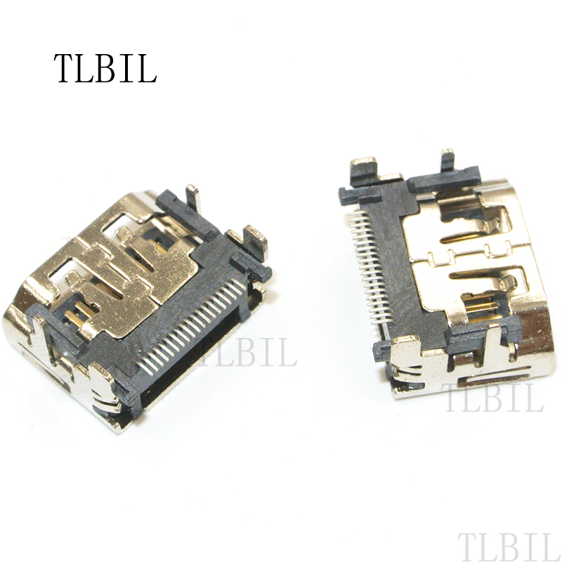20Pcslot HDMI PCB Connector 19 Pin HDMI Female Jack Socket SMT Connector Female HDMI 19 PIN SMT RICH TECH Wholesales