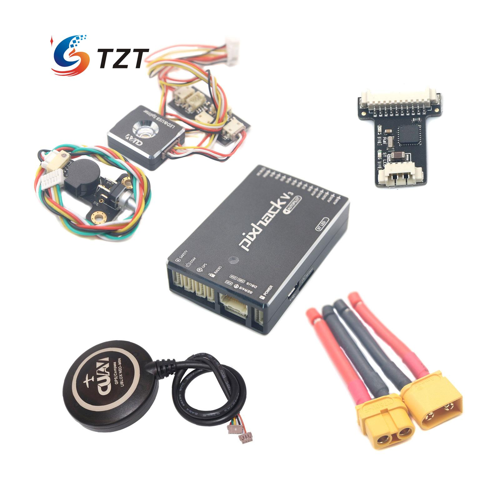 CUAV Pixhack V3C Flight Controller with M8N GPS LED Board PPM Encoder TF Card for Drone