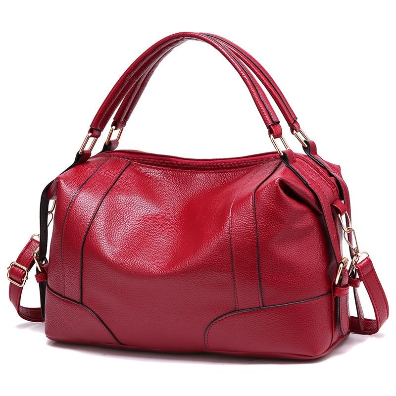 Европейская и американская мода 2018, простая женская сумка, Роскошные Сумки из искусственной кожи высокого качества, дизайнерские сумки на плечо, сумка мессенджер|Сумки с ручками|   | АлиЭкспресс