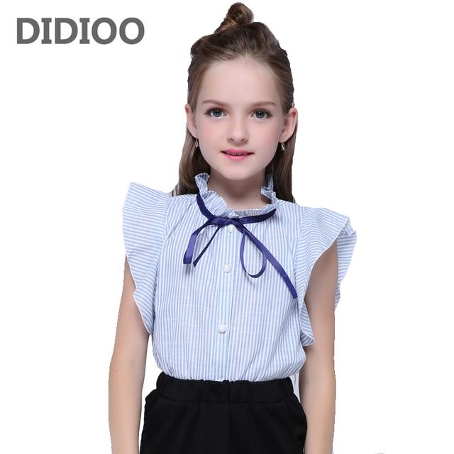 0e07e63f26ab Summer Girls White Blouse Short Shirt For Girls Blouses School Teenage  Girls Top Kids Clothes 4 5 6 7 8 9 10 11 12 15 Years
