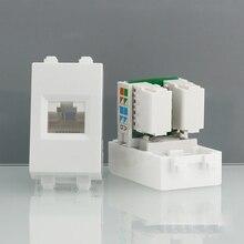 Tomada de Rede Slot para 86mm 1 Peça Durável Internet Rj45 Tomada de Parede Ethernet
