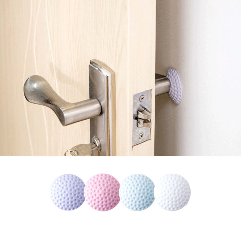 Hardware Door Hardware & Locks High Quality 1 Pcs Circular Wall Protectors Door Handle Bumpers Buffer Guard Stoppers Rubber Silencer Crash Pad Doorknob Lock