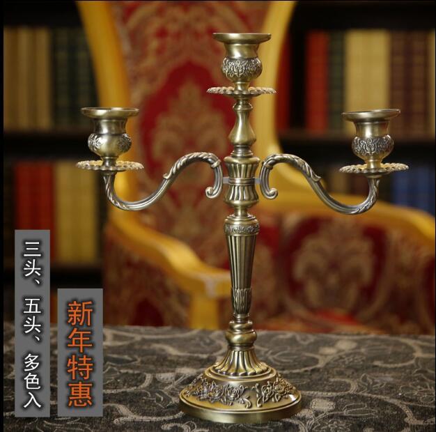Metal alloy floral carved 3 /5 arm metal candlesticks candle holder vintage bird cage candelabra for wedding decoration ZT2012