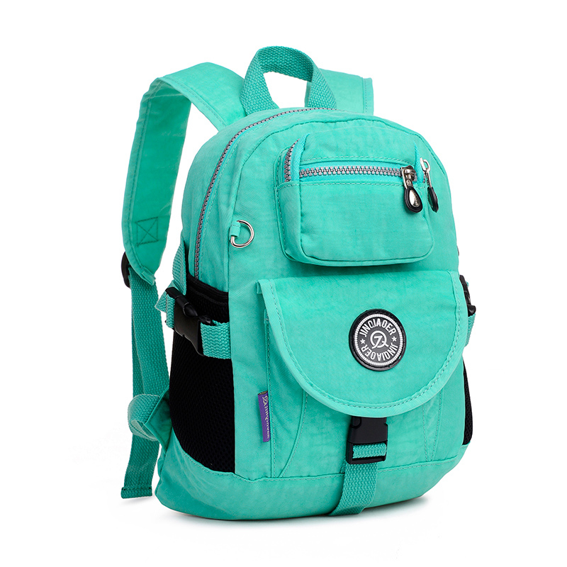 High Quality women's Backpacks solid zipper nylon backpack bag ...