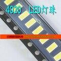 LED 4020 белый SMD бисер 2040 ЖК-ЭКРАНОМ дисплея лампа подсветки 8000-8500 К 1 Вт 6 В 100 ШТ.