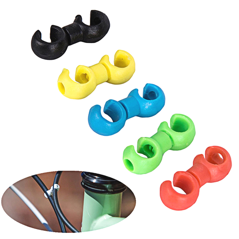 10PCS Bag MTB Bike Road Plastic Handcuffs Shape Clips Bicycle Hose Guide For Brake Cable Derailleur Line Case Clasps in Cables Housing from Sports Entertainment