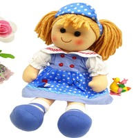 Smafes high quality 16 inch fashion rag dolls toys for girls plush soft handmade baby born doll with cloth kids birthday gift