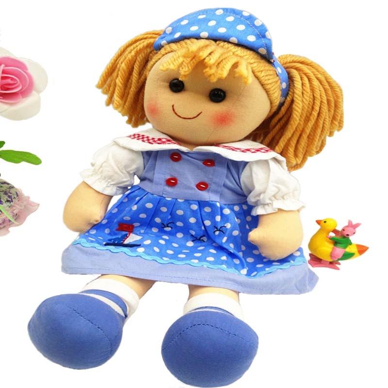 Smafes جودة عالية 16 بوصة الأزياء خرقة دمى لعب للبنات القطيفة الناعمة اليدوية الطفل ولد دمية مع القماش أطفال هدية عيد