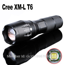LED Flashlight 10W CREEXML-T6 2400lm Waterproof LED Light 5 Modes Zoomable LED Torch AAA or 18650 Battery Flashlight Torch Lamp