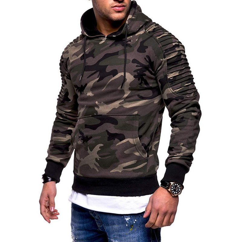 Fashion Camoflauge  Hoodies Sweatshirts Military Camo Hoodies Pullovers Casual Hip Hop Oversized Streetwear Hoody 4