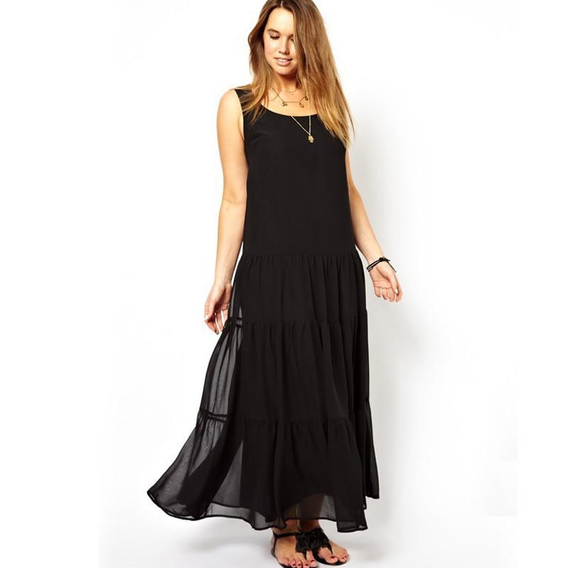 Summer Dress 2016 Floor Length Women Plus Size Long Dress