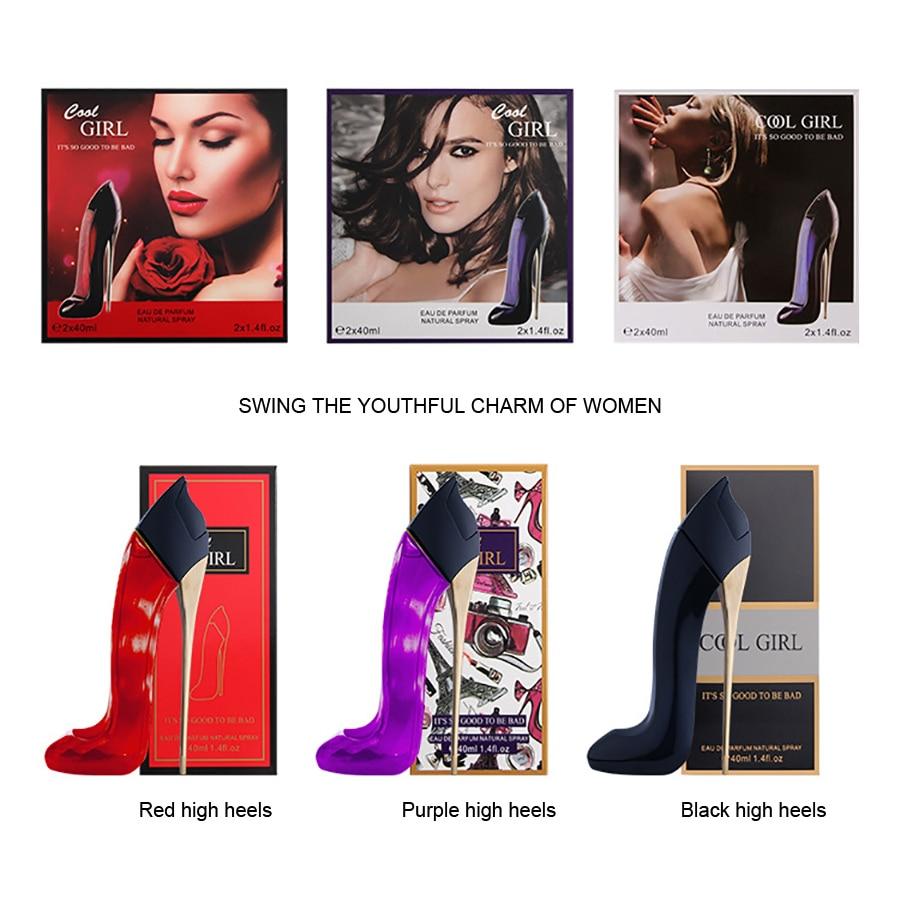 LAIKOU 40ml Bottle Glass Women Perfume High Heels Feminino Fresh Fragrances Body Spray Parfum Long Lasting Liquid Antiperspirant