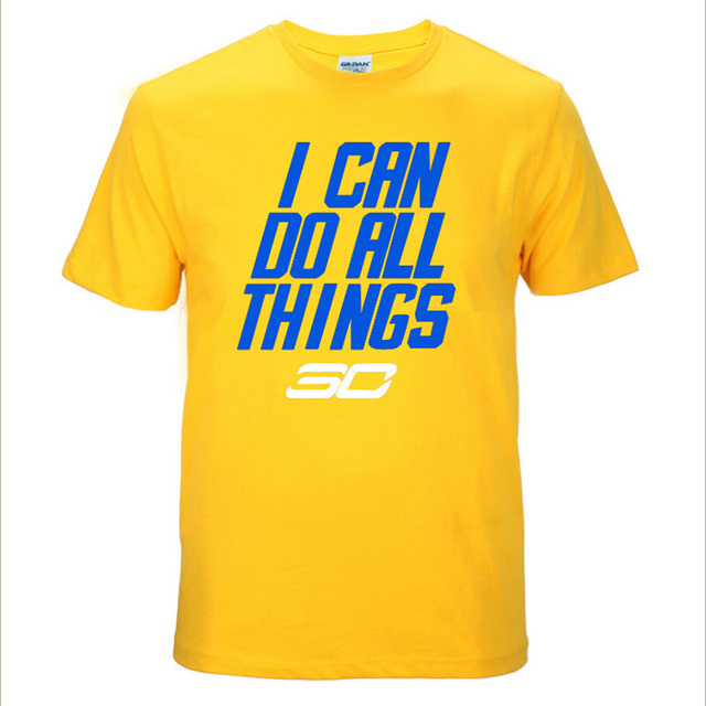 Summer Stephen Curry T Shirt I Can Do All Things Printed Brand Clothing 100