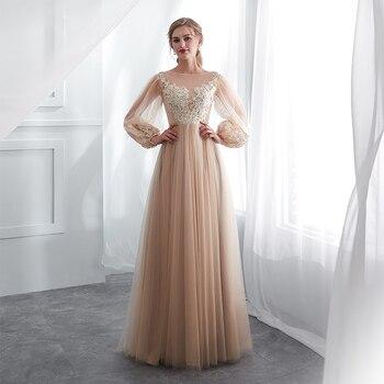 635c4def845 Платья для выпускного вечера цвета шампанского