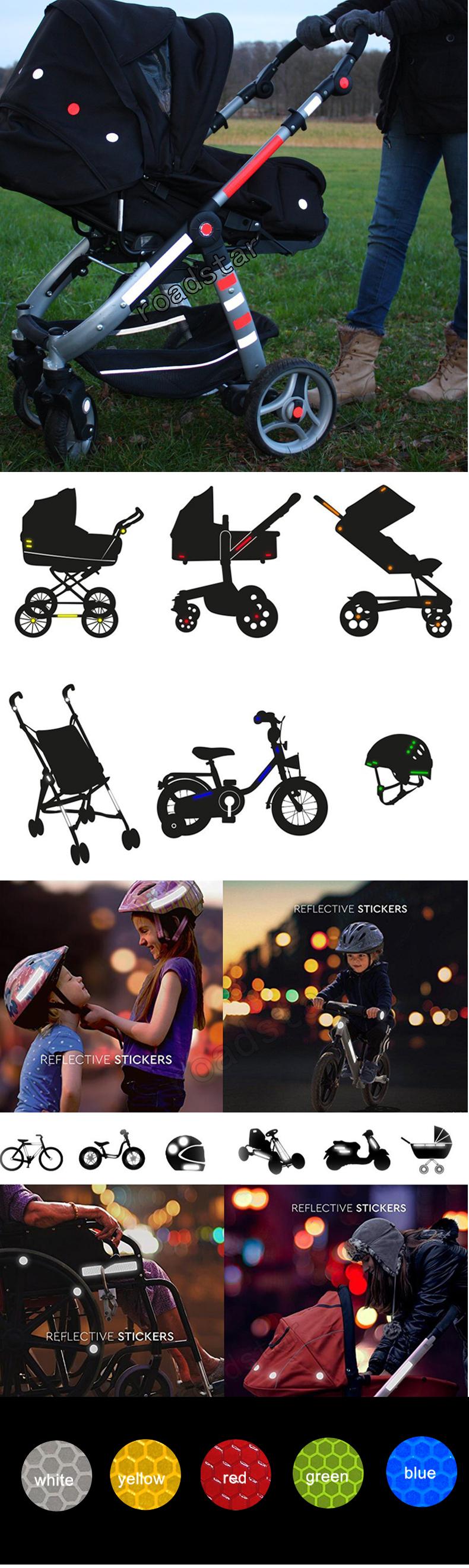 Светоотражающая наклейка для колясок велосипедных шлемов и многого