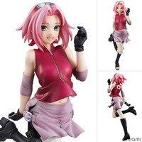 19 cm Cute Anime NarutoGals Sakura Action Figure Toy Manga Naruto Shippuden Figurine Collection Brinquedos Figurals Gifts WX268
