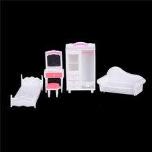 Шкаф/кровать/диван/туалетный столик мебель аксессуары для куклы Барби мебель кукольный дом аксессуары детский подарок