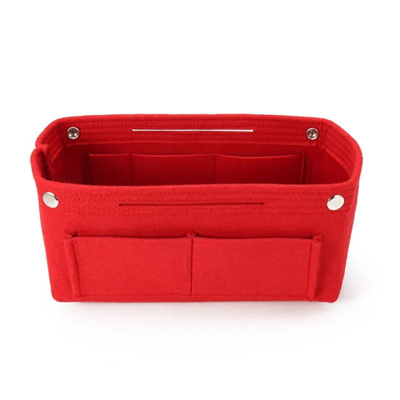 1Pc Multifunction Handbag Cosmetic Organizer Purse Insert Bag Felt Fabric Storage Pouch