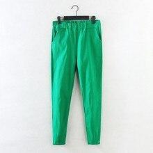 2017 New Jeans Plus Size Pants Women's Spring Korean Elastic Waist Pants Feet Pants 7 Color Solid Slim Was Thin Pencil Pants