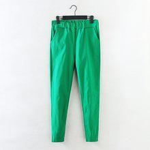 ae81de9a1af 2018 New Jeans Plus Size Pants Women s Spring Korean Elastic Waist Pants  Feet Pants 7 Color