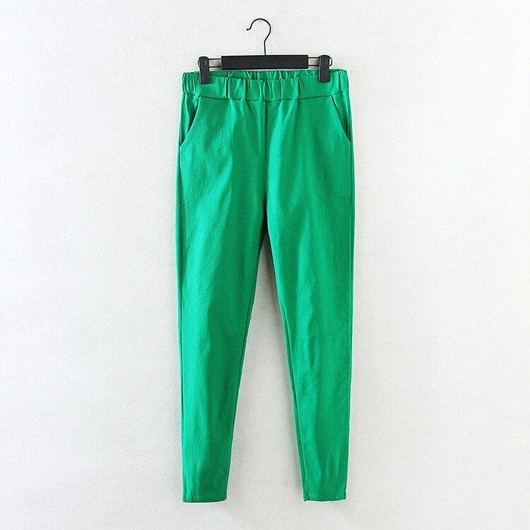 2018 New   Jeans   Plus Size Pants Women's Spring Korean Elastic Waist Pants Feet Pants 7 Color Solid Slim Was Thin Pencil Pants