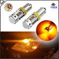 2pcs Amber Yellow 10-CRE'E XB-D H21W BAY9s 64136 120 degress LED Bulbs For Car Parking Light /DRL/Front rear Turn Signal lights