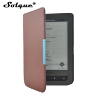 Solque PU Leather EBook Case For Pocketbook 614 Ultra Slim Magnet Flip Cover For Pocket Book