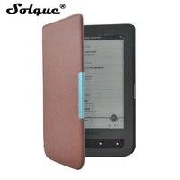 Solque PU Leather EBook Case For Pocketbook 614 Ultra Slim Magnet Flip Cover For PocketBook Touch