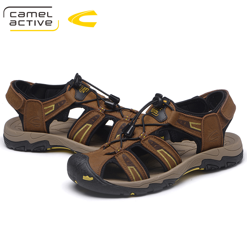 Camel Active New High quality Men sandals Outdoor male Genuine leather Shoes Summer Men Shoes Breathable Sandalias
