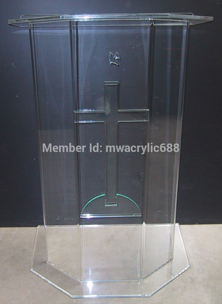 Pulpit Furniture Free Shipping Beautiful Price Reasonable Clean Acrylic Podium Pulpit Lectern Acrylic Podium