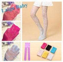 girls summer slim lace silk thin pantyhose stockings sumflower jacquard pantyhose bottoming children tights 3~12 years