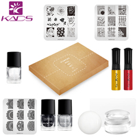 KADS Stamping Nail Art Set Nail Art Stencils Stamping Template Nail Stamp Polish Stamper Scraper Set
