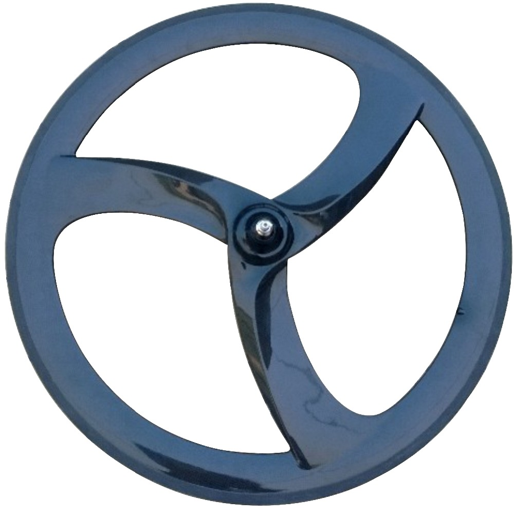 Aero conception carbone 3 roue à rayons route piste vitesse fixe carbone roues 700c pneu tri roue à rayons 56mm route vélo 3 rayons